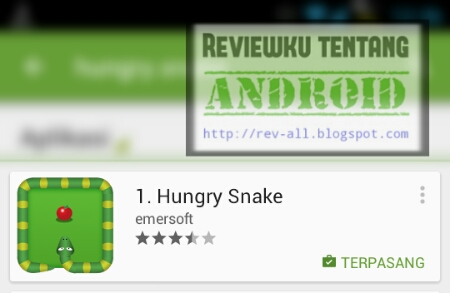 Screenshot ikon permainan HUNGRY SNAKE oleh rev-all.blogspot.com