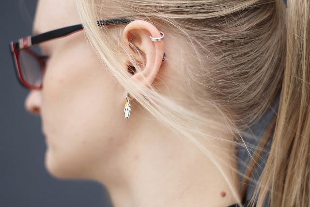 panda ear jewellery