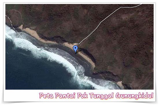peta pantai pok tunggal gunungkidul