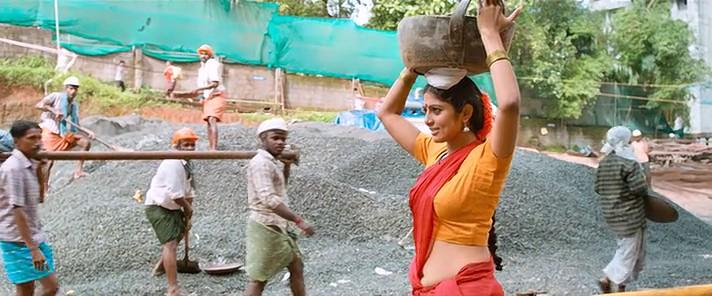 Vinutha Lal hot navel show photos in saree from Bhayya Bhayya