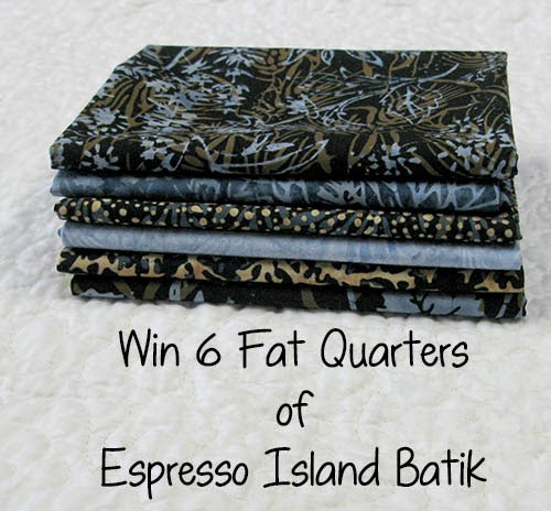 Win 6 Fat Quarters Espresso Island Batik