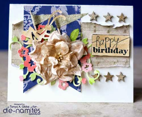 Card designed by Tonya Gibbs for Die-Namites Dies