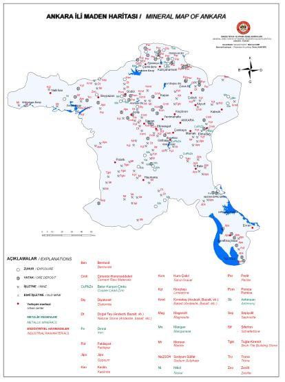 Ankara �li Maden Haritas�
