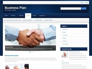 Business Plan Blogger Template
