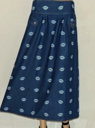Rok Jeans Motif Bibir RM322