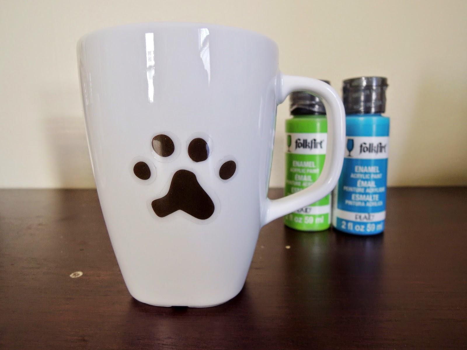 DIY Paw print mug