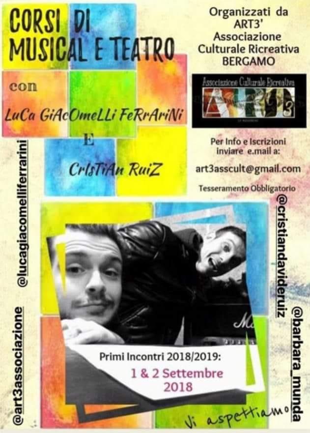 CORSI DI MUSICAL E TEATRO CON LUCA GIACOMELLI FERRARINI E CRISTIAN RUIZ