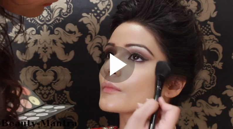 Indian Bridal Makeup Gold Eye Makeup And Winged Eye Liner B G