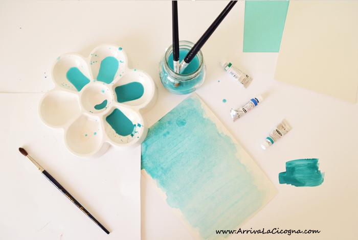 come dipingere nuvole con l'acquarello