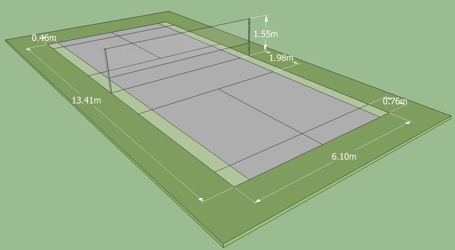Badminton net measurement
