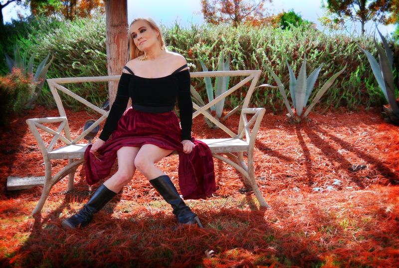 blonde boho fashion showing legs