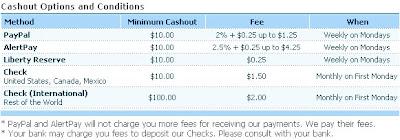 cashout terms