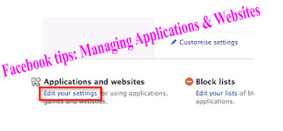 Facebook tips: Managing Applications & Websites