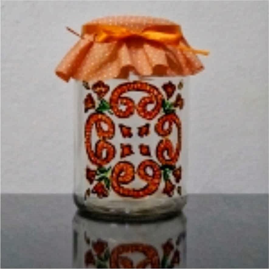 pintura caneta creative em pote de vidro