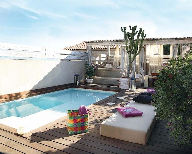 Terraza con piscina guia de jardin for Piscina pequena terraza