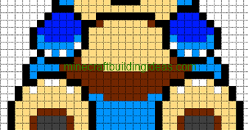 Minecraft Pixel Art Templates Snorlax
