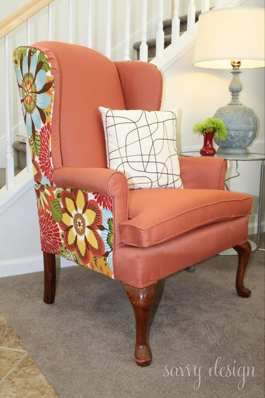 living savvy how to reupholster a wingback chair