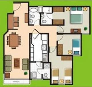 el plano de casas economicas gratis la imagen es para una casa de 107