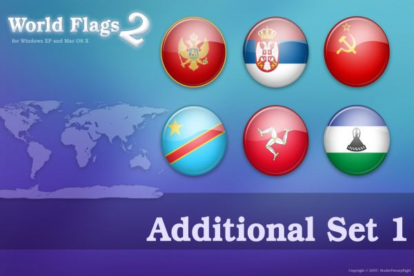 Free World Flags 2 Additional Icons Set