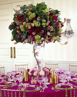 Exotic Tall Fall Wedding Centerpieces