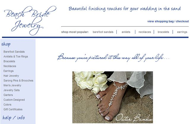 Foot Jewelry by BeachBrideJewelry.com