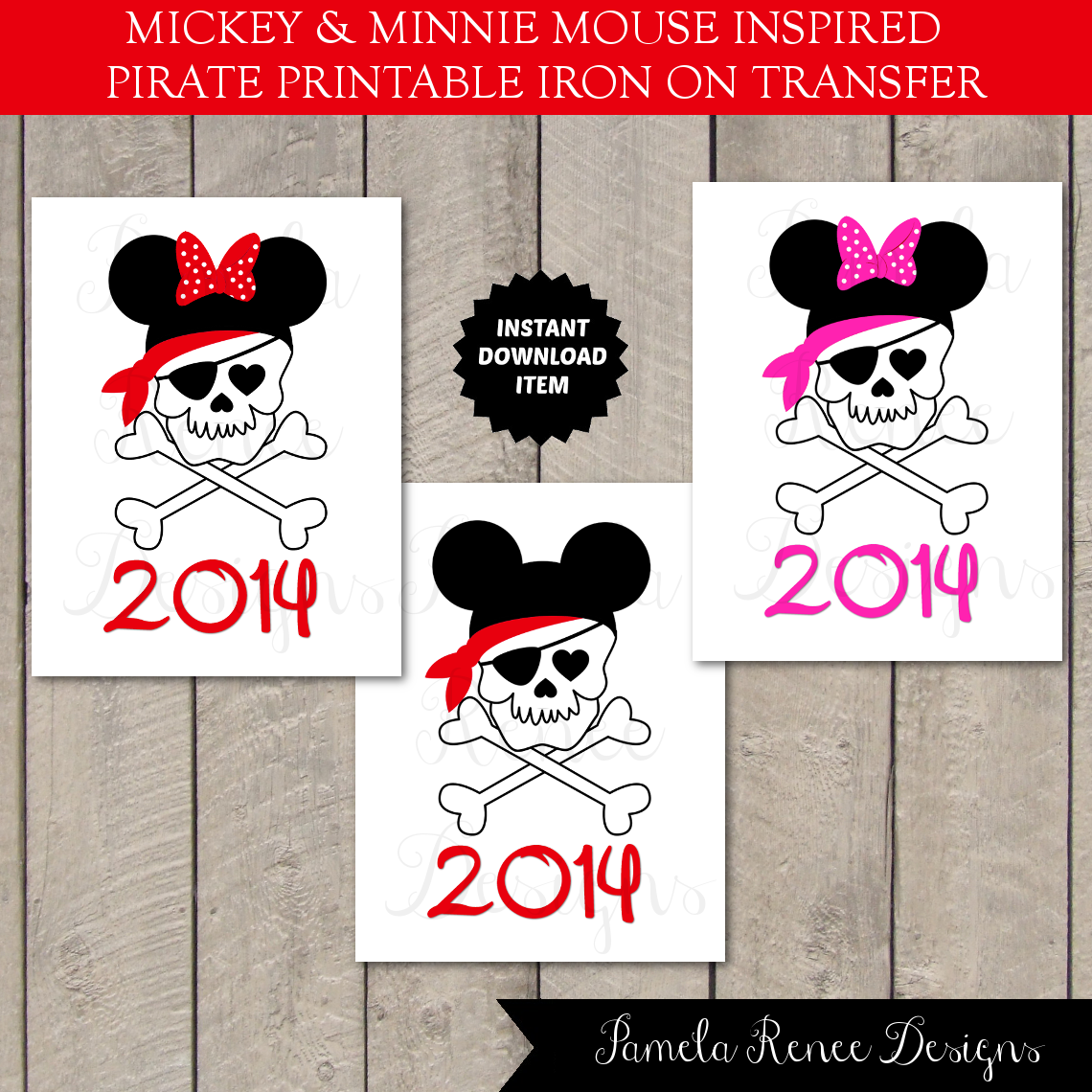 Universal image in printable iron on transfers