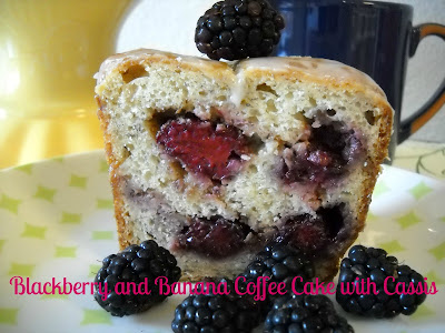 Recipe: Blackberry-banana coffee cake with Cassis