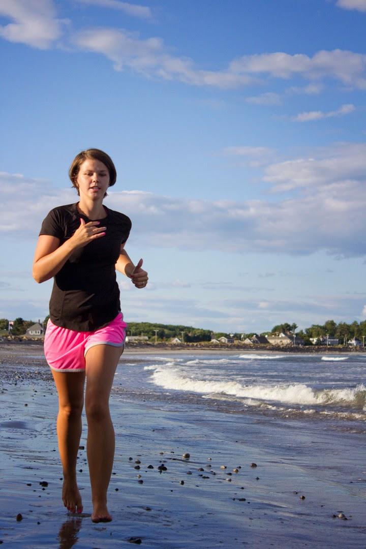 Running on Hampton Beach