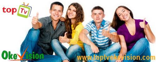 Situs khusus pendaftaran untuk TopTV dan Okevision.