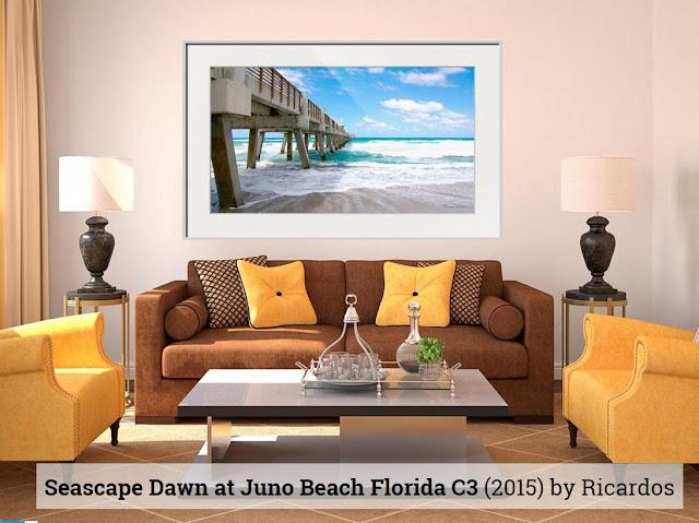 Seascape Juno Beach Pier Florida B1 by Photographer Ricardos Creations