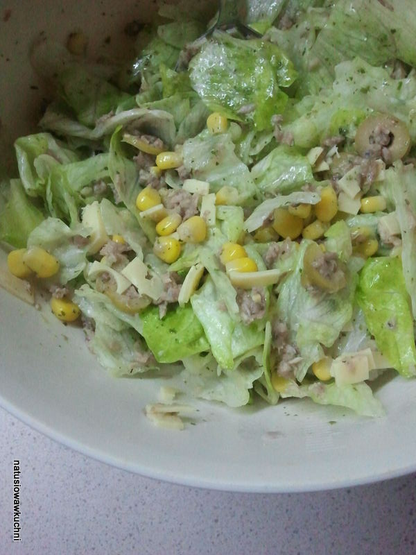 Natusiowawkuchni Salatka Z Tunczyka Kukurydzy I Salaty Lodowej