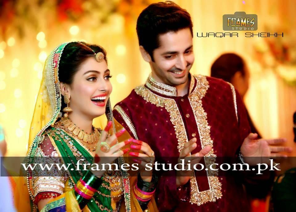 aiza khan and danish taimoor wedding pics mehndi special