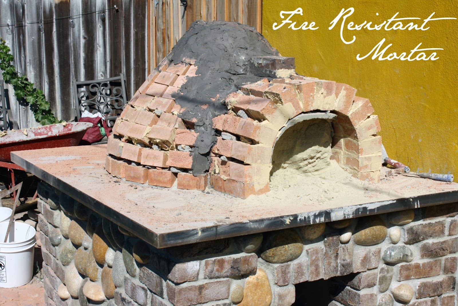 Fire Brick Mortar Mix : The tipsy terrier pub wood fired pizza oven