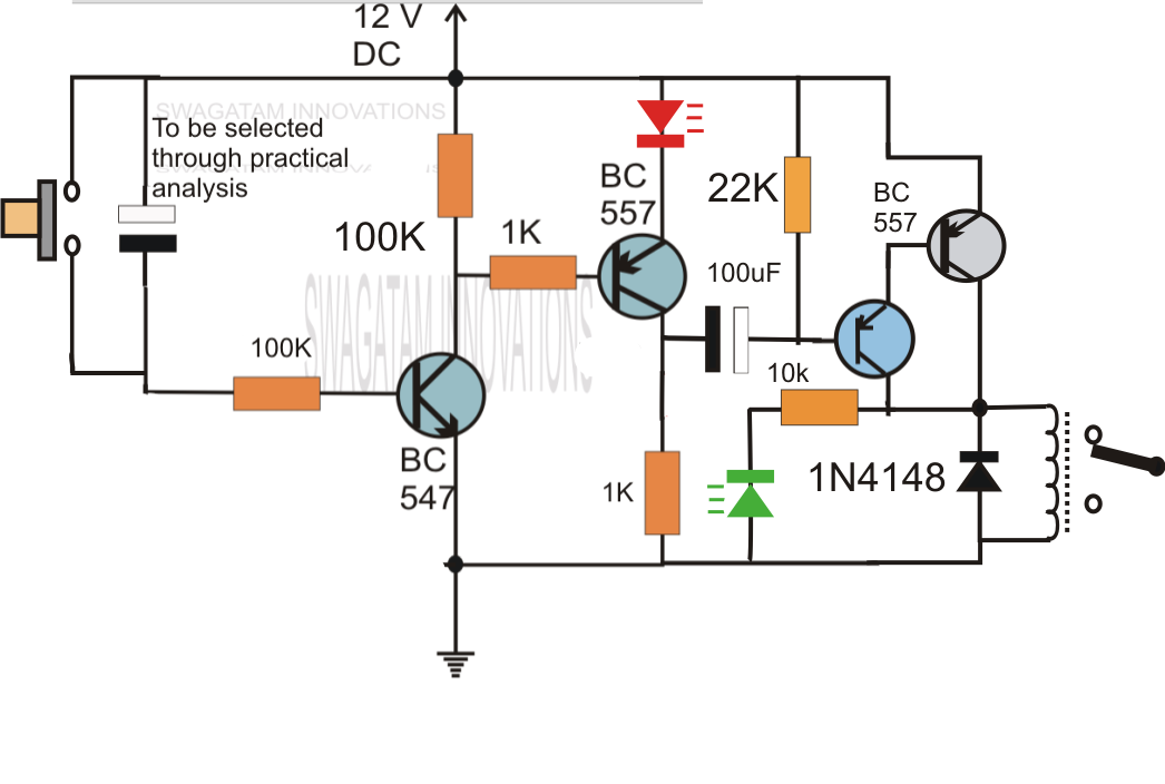 simple delay timer circuits explained electronic circuit projects the on time for the output to turn on the relay would be from 500 milliseconds to 30 seconds let me know if you can offer any insight thanks