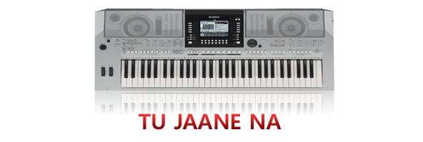tu jaane na piano notations and guitar chords