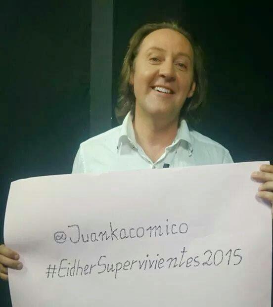 Juanka cómico, si a Supervivientes 2015 de Telecinco, por su hijo Eidher