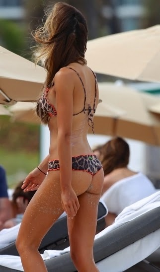Alessia Tedeschi Sexy Animal Print Bikini In Miami