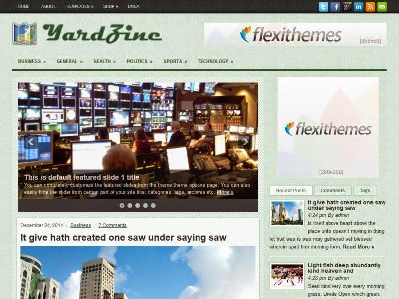 YardZine - Free Wordpress Theme