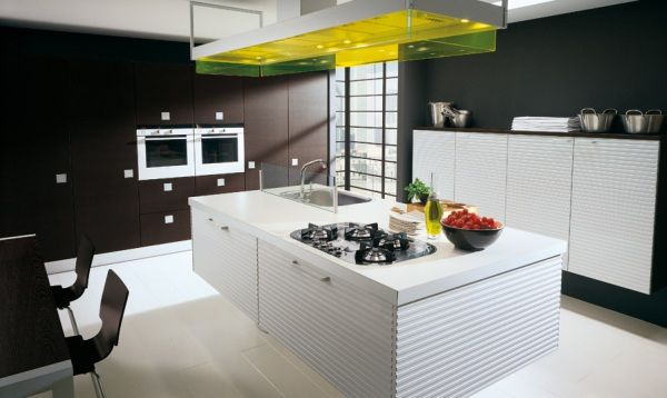 Dekorasi Dapur Modern Kombinasi Hitam Putih