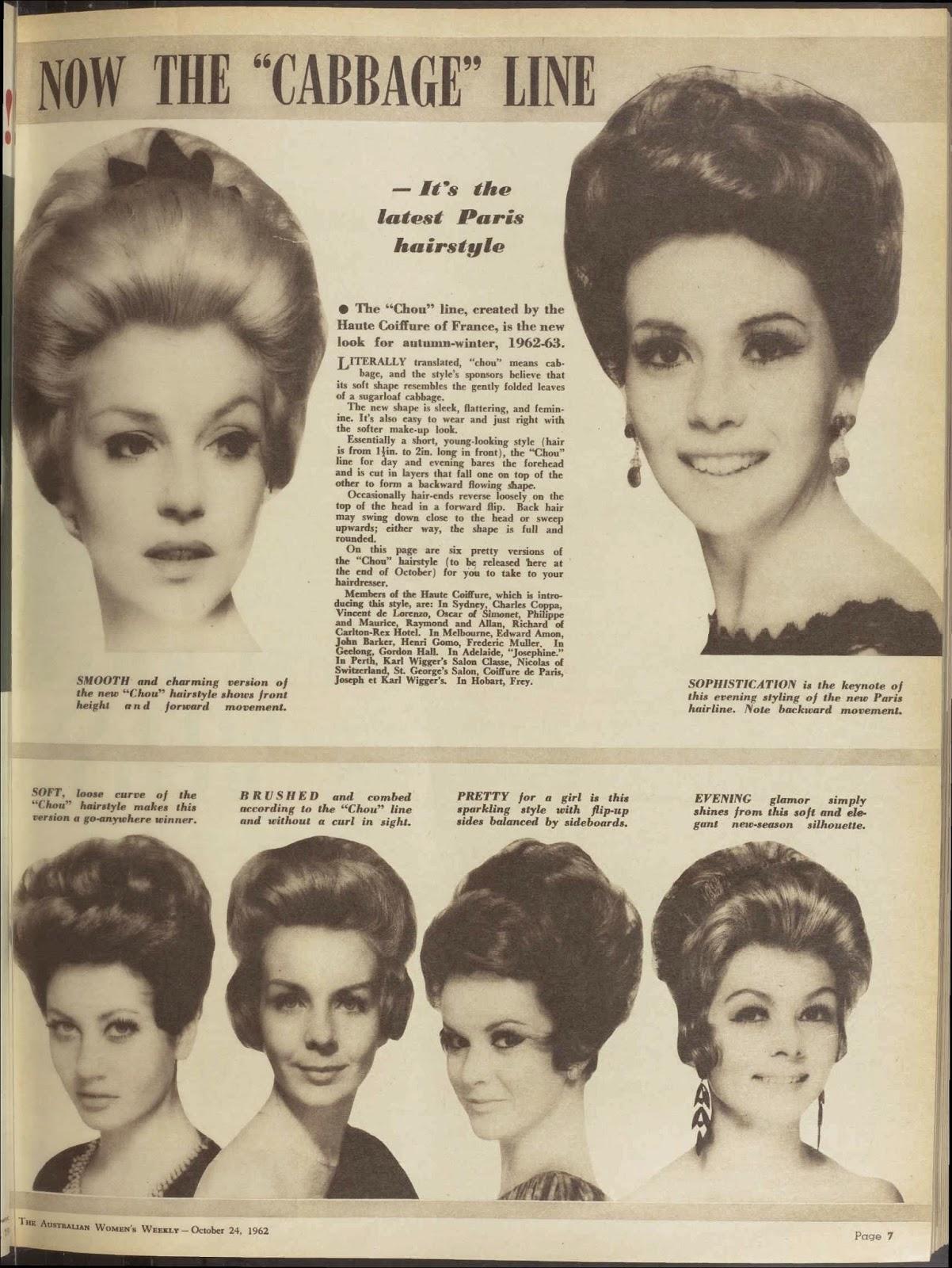 vintage 1960s hair styles