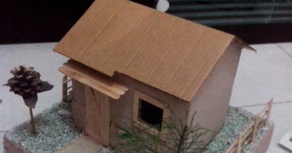 membuat rumah sederhana dari kardus bekas mi wajib