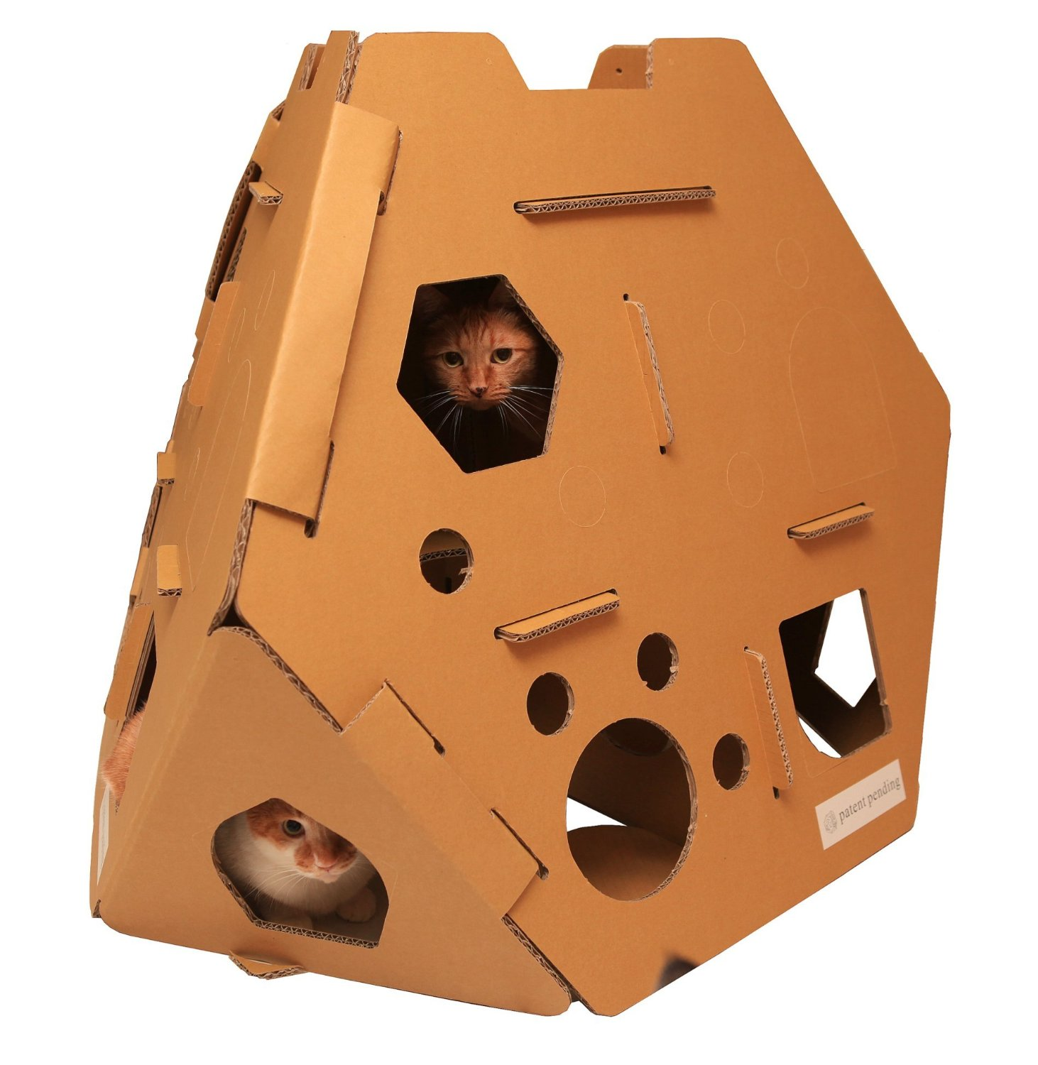 Cardboard House For Cats Cardboard Cat House Cat Scratcher Play House Could Be More