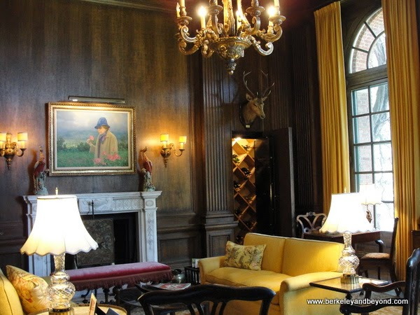 men's after-dinner drawing room in mansion at Filoli in Woodside, California