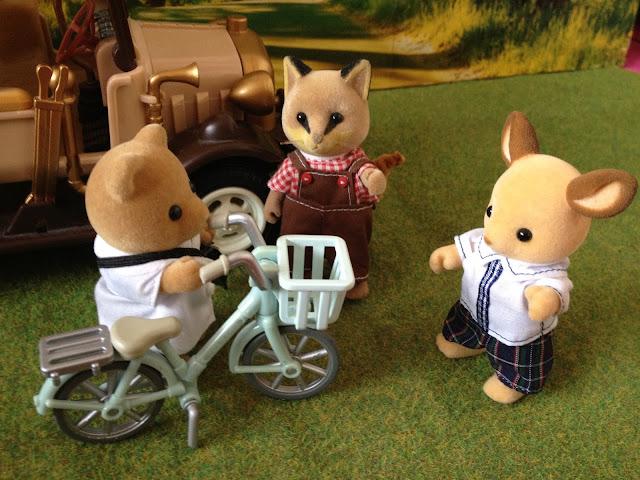 Sylvanian Families Doctor and Bike