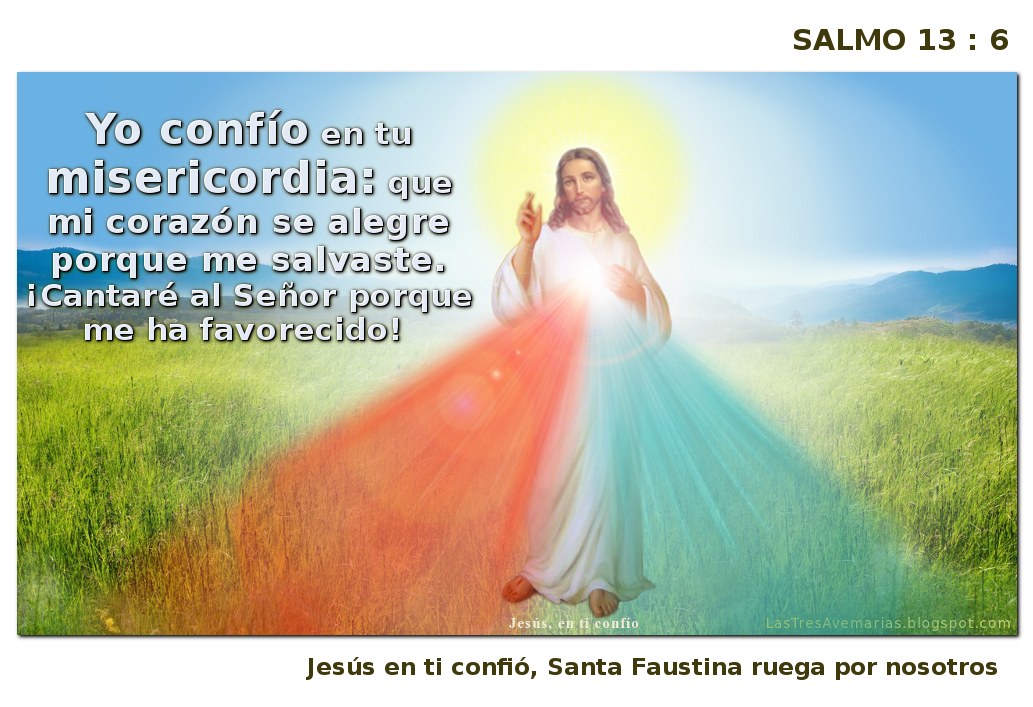 divina misericordia con un salmo