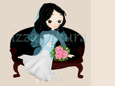 doodle comel,doodle pengantin,couple