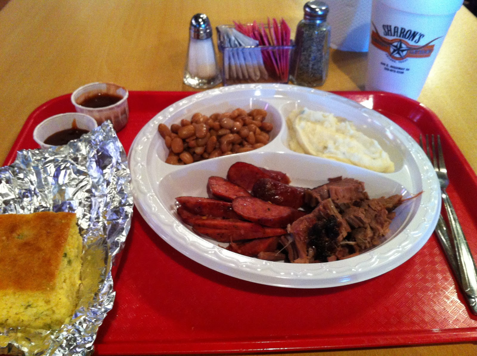 Sharon Barbeque Abilene BBQ Barbecue Bar-B-Que Sausage Brisket