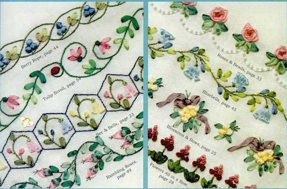 Needle Works Butterfly Silk Ribbon Embroidery Borders