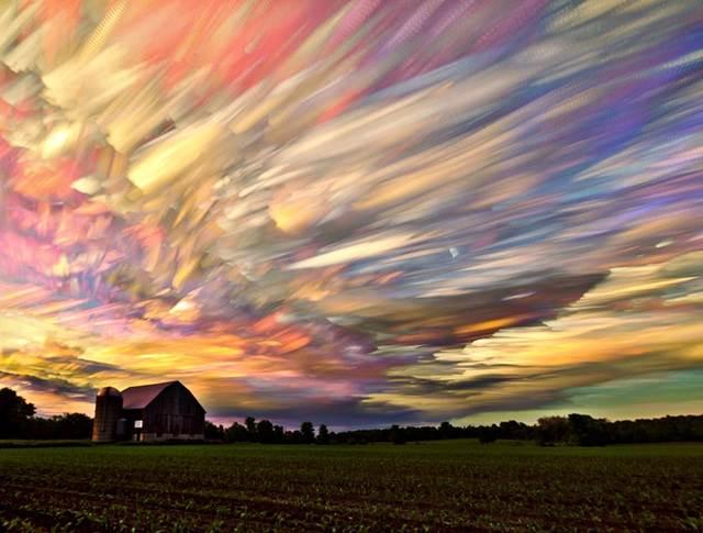 gambar langit di ladang