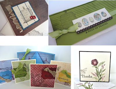 Nature Walk + Botanical Gazette samples by Stampin' Up!